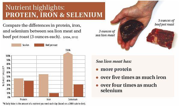 SEA LION-nutrient highlight protein iron selenium
